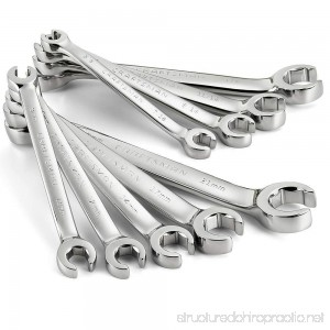 Craftsman 10 pc. Standard and Metric Flare Nut Wrench Set - B06Y5L9C7L