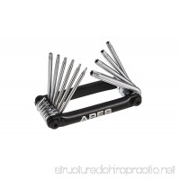 ARES 70077 | 10-Piece Tamper Proof Folding Star Key Set | Sizes Include Security Torx T-6 to T-30 - B01N638VH3
