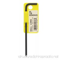 "Bondhus 15707 1/8"" Ball End Tip Hex Key L-Wrench with ProGuard Finish  Tagged and Barcoded  Long Arm - B000MBLW72"