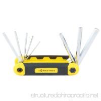 DOWELL 8 PCS Metric Folding Hex Key Wrench Set - B0746FMMFP
