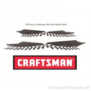 New CRAFTSMAN 40 pc SAE and Metric HEX KEY ALLEN WRENCH SET 20 + 20 PC - B01M0OBBH3