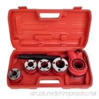 Comie New Ratchet Pipe Threader Kit Set Ratcheting w/5 Stock Dies & Handle Plumbing Case - B01B42BU3S