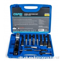 Capri Tools 21073 Chisel and Punch Set with Removable Handle  Black  13 Piece - B00VPPJTF6
