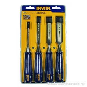 Irwin Marples M444/S4 4-Piece Blue Chip Bevel Edge Woodworking Chisel Set - B0000457K2