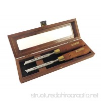 Narex Pair Right & Left 12 mm 1/2 Skew Paring Chisels in Wooden Presentation Box 851662 - B0165WAAMY