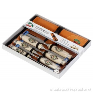 Two Cherries 500-1575 6-Piece Chisel Set with Custom Leather Roll - B000JR9RI0