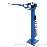 Erie Tools Pedestal Floor Compact Bender Bending Metal Fabrication Tube Pipe Rod 7 Dies - B00HZ5THRU