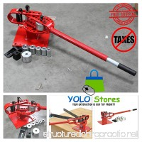 """Pipe Bender Dies Hand Tool Tube Metal Manual Bench Rod 1"""" to 3"""" with 7 Dies Manual Press Heavy Duty By YOLO Stores - B074FXKR34"""