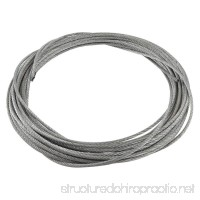 TOOGOO(R) 3mm Diameter Flexible Stainless Steel Wire Rope Cable 12 Meter Length - B00UBOPFC8