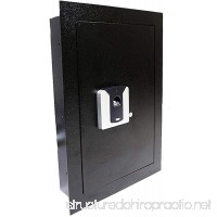 Adumly Color Black Fingerprint Wall Hidden Safe Biometric Lock Security Box Cash Jewelry Gun - B07DQWHPB7