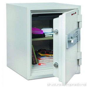 FireKing KF16122WHE Two Hour Fire and Water Safe 1.48 ft3 18-1/5 x 18-1/3 x 21-3/4 White - B00GO0VDLU