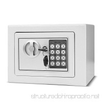 """Flexzion Digital Safe Box 9"""" Electronic Keypad Lock Security Gun Cash Jewelry Passport Valuable Wall Cabinet For Home Office Hotel with 2 Keys Fit Anywhere (White) - B077QFPXVN"""