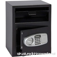 GHP 11.8x14.2x17.7 Black Box Silver Panel Steel Keypad Lock Electronic Safe Box - B07G5JD2J6
