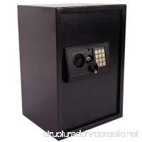 GHP 20.98x14.56x12.99 Black Steel Plate Electronic Keypad Lock Safe Box with Keys - B07G5CVWL5