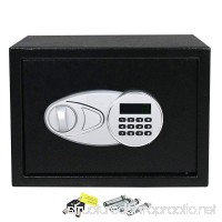 HomGarden Electronic Security Safe 0.5-Cubic Feet Digital Lock Fire Proof Jewelry Cash Passports Gun Box Black - B07FFVP33L