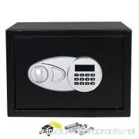 HomGarden Electronic Security Safe 0.5-Cubic Feet Digital Lock Fire Proof Jewelry Cash Passports Gun Box  Black - B07FFVP33L
