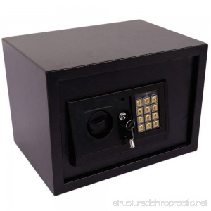 Leadzm Small Size Electronic Digital Steel Safe Strongbox Theft Proof For Household Secret Office Travel Black - B079BTP9YV