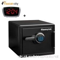 Sentry Safe 0.81 Cubic feet Fire and Water Safe Large Digital Safe SFW082F and Toucan City LED Alarm Clock - B07C5HYB9X