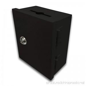 Black 5x6x3 Wall Mount Key Card Key Drop Box Drop Slot Safe Cash Enclosure - B01H89QX6U
