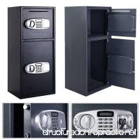 FCH Digital Double Door Safe Depository Box for Cash Office Security Lock Drop Boxes - B01M6U70SJ