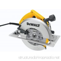 DEWALT DW384 8-1/4-Inch Circular Saw with Brake and Rear Pivot Depth of Cut Adjustment - B000022320