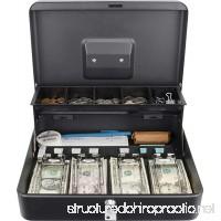 BARSKA 12 Standard Register Style Cash Box with Key Lock Black - B075P1G4KP