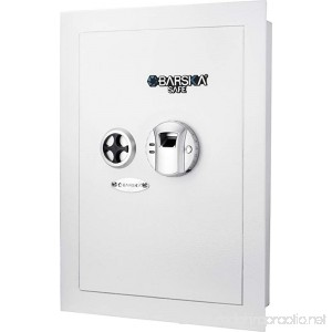 BARSKA Biometric Wall Safe White - B075SBRG7Q