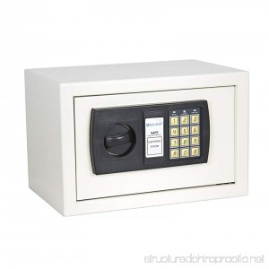 Best Choice Products Electronic Digital Lock Keypad Security Safe Box for Cash and Jewelry - White - B003EHOGJC