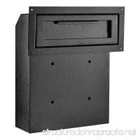 AdirOffice Through-The-Door Safe Locking Drop Box (Black) - B076TR138V