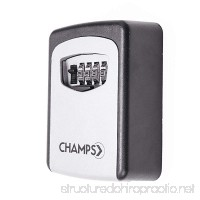 Champs 4-Digit Combination Realtor Wall Mount Key Lock Box for Indoors or Outdoors [Weather Resistand Steel Holds up to 5 Keys] - B076J1T9R5