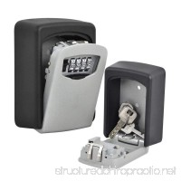 Lospu HY Key Lock Box with 4 Settable Digit Combination Wall Mounted Made of Weather Resistant Steel for Indoors or Outdoors Holds up to 5 Keys - B06XW7V64C