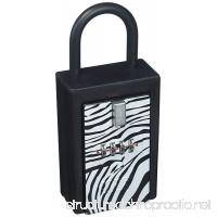 NU-SET 1004-3 Safari NuSet Safari 4 Digit Number Combination Key Card Storage Lockbox in Zebra Print (1004-3)… - B01JSSZBLM