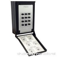 NU-SET 2085-3 Key/Card Storage Wall Mount Push Button Combination Lockbox Black - B00M0XFXAC