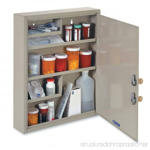 STEELMASTER Large Medical Security Cabinet Dual Locks Sand (2019065D03) - B000Q5ZOCS