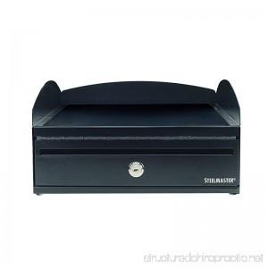 STEELMASTER LockIt Desktop Inbox 14.5 x 5.75 x 11 Inches 2 Keys Included Black (264657004) - B00S6ZHQF8