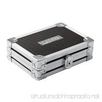 Vaultz Locking Gadget Box Black with Chrome Accents 5.5 x 8.25 x 2.25 Inch - Exterior Dimensions (VZ01269) - B003FMHXD2