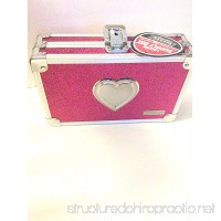 Vaultz Locking Pencil Box 5.5 x 8.25 x 2.5 inches Pink Bling with Heart - B073XYGM43