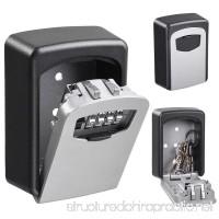 Yescom 4 Digit Dial Combination Key Lock Box Wall Mount Safe Security Storage Case Organizer - B06Y2RMN9V
