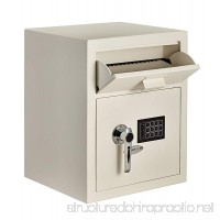 AdirOffice Digital Depository Safe - Front Loading - Digital Keypad Lock - Lockout Mode (White) - B07FB1PJ62