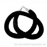 Baosity 2 Pcs 1.5m Black+Red Velvet Queue Rope with Silver Chrome Clip Hooks - B07DVHX2K1
