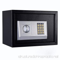FixtureDisplays 13.8 x 9.8 x 9.8 Safe Security Box Digital Safe Box Black Security Box with Digital Lock 18133-NF - B07FL6BBMV