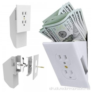 Hidden Wall Safe Security Electrical Outlet Vault Valuables Jewelry Secret Stash - B07FB3D97H