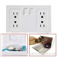 Secret Wall Outlet Socket Security Safe Secret Money Jewelry Box Hide Case Stash - B07F9WTW4C