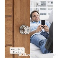 Baldwin Prestige Alcott Entry Knob featuring SmartKey in Satin Nickel - B004T3KFWC