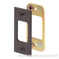 Defender Security E 2482 Security Deadbolt Strike Plate  Steel Construction  Classic Bronze Finish - B003R2IY8S