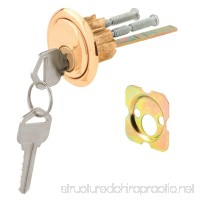 Defender Security U 9965 Rim Cylinder Lock Kwikset/Weiser with Brass Face and Diecast Housing - B000BPEOKG