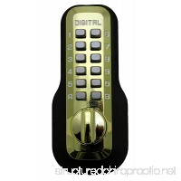 Digital Door Lock M210 Mechanical Keyless Deadbolt Bright Brass - B000WPJ85G