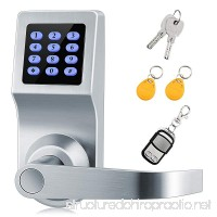 Digital Lock XINDA Lock with Remote control Password Card and Metal key.Door Control Keypads with Adjustable hand Perfect for Office & Home(Silvery) - B07BTW64C7