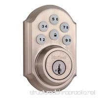 Kwikset 99100-044 SmartCode ZigBee Touchpad Smart Lock works with Echo Plus & Alexa  featuring SmartKey  Satin Nickel - B06WD6N9VF