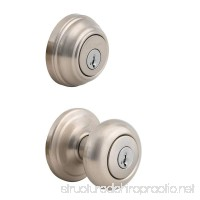 Kwikset 992 Juno Entry Knob and Double Cylinder Deadbolt (Keyed on both side) Combo Pack featuring SmartKey in Satin Nickel - B004EPYSH8
